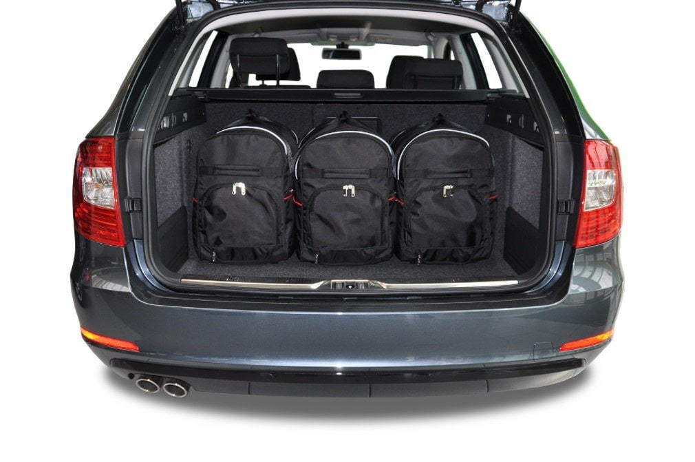 kjust skoda superb kombi 2008 2015 car bags set 5 pcs select your car bags set skoda. Black Bedroom Furniture Sets. Home Design Ideas