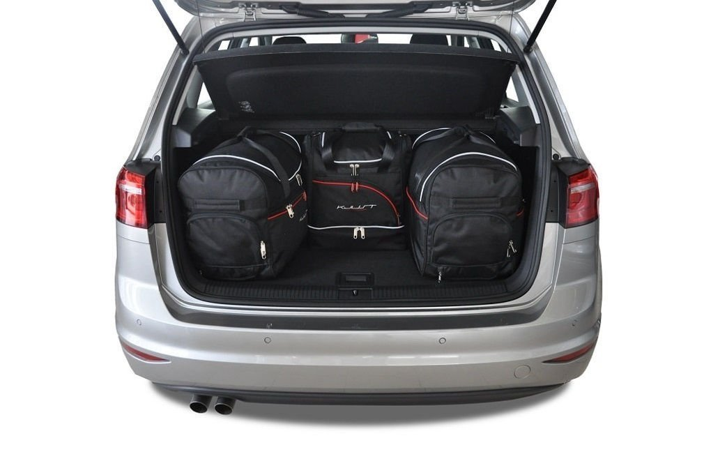 kjust vw golf sportsvan 2013 car bags set 4 pcs select your car bags set vw golf. Black Bedroom Furniture Sets. Home Design Ideas